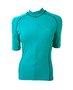 Camisa de Ciclismo Unissex Azul Turquesa Com Trama