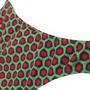 Conjunto Juvenil Sutiã Camiseta Verde e Vermelho