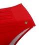 Hot Pants Com Recorte Franzido Vermelho