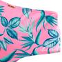 Hot Pants Com Recortes Folhas Rosa