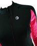 Jaqueta Ciclismo Preto e Rosa