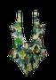 Maiô Com Recorte Liso Floral Ilha