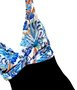 Maiô Transpassado Floral Azul