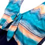 Maiô Regata com Laço Azul e Nude