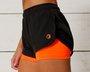 Shorts 2 em 1 Laranja Neon