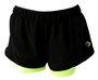 Shorts 2 em 1 Verde Neon