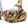 Sutiã Com Aro Folhas Verde e Rosa