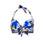 Sutiã Modelle Com Amarração Floral Azul