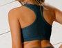 Top Nadador Texturizado Verde Musgo