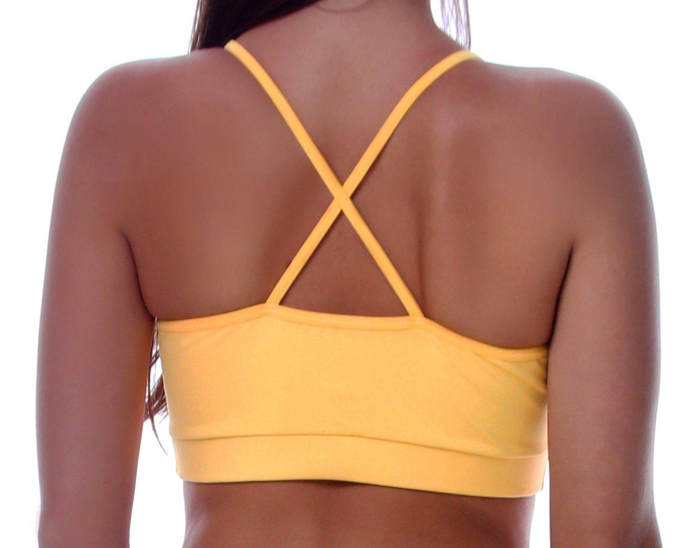 Top Com Alças Finas Amarelo