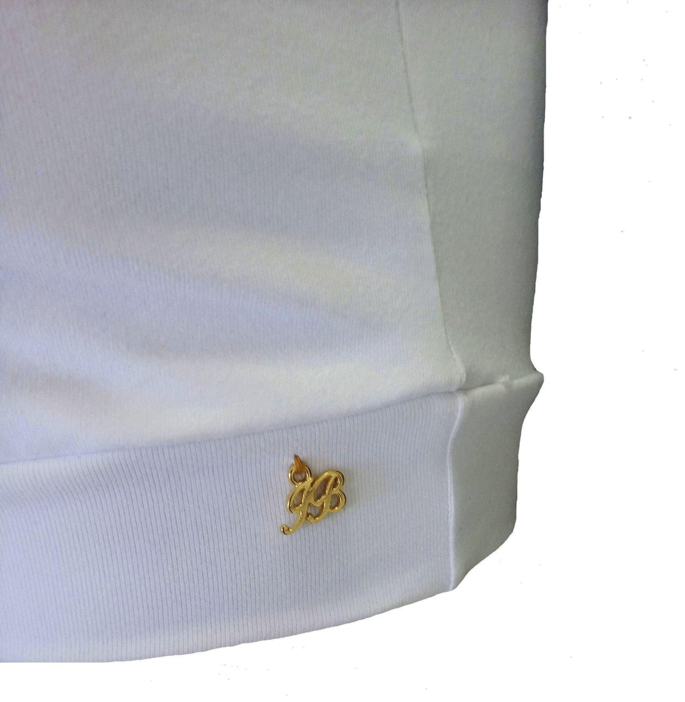 Top Decote V Com Bojo Branco